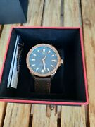 Vostok Europe Almaz Space Station Bronze Automatic 47 Mm Teal Dial W Leather