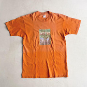 Vintage Sonic Youth T Shirt 80 Andrsquos Sister L Size Orange Color Rare Used