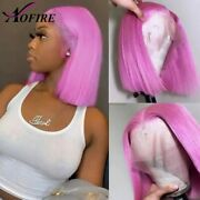 Transparent Lace Frontal Human Hair Wig Pre Plucked Short Bob Wig Remy Hair Wigs