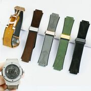 2519mm Watch Band Strap Compatible With Hublot Watches Black Gray Green Straps