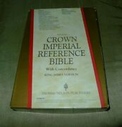 Vintage Kjv Nelson Crown Imperial Reference Bible With Concordance 585gy Gray