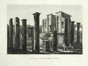 1840 Remains Of The Temple Of Isis In Pompeii Fine Etched Print By Orlandini