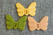 Lot Of Vintage Celluloid Or Casein Butterfly Buttons 116-e