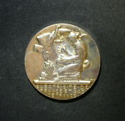 Inscribed Silver Tone French Award Medal By Dropsy