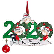 Personalized Christmas Ornament 2020 Christmas Hanging Ornaments Family Gift El