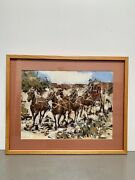 Fine James Colt Original Painting Andldquostage To Tombstoneandrdquo 12andrdquo X 16andrdquo Cowboys Signed