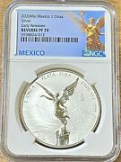2020 Mo 1 Onza 1 Oz. Mexico Silver Libertad Early Releases Ngc Reverse Proof 70