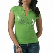 Baby Phat...fabulous Find..graphic Tee With Signature Kitty Logo...nwt..d2a00258