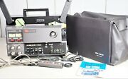 {all Work} Elmo Gs-1200 W/ Case Super 8 8mm Stereo Sound Movie Projector From Jp