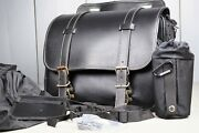 Rare {nmint} Harley Other Motorcycle Leather Saddlebag Saddle Bag From Japan