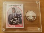 David Robinson – 1989 Hoops W/coin In 1 Of A Kind Plaque – Rookie Card –gem Mint
