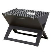Fire Sense Notebook Charcoal Grill Portable Grilling Bbq Barbecue Outdoor Black