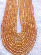 Precious Natural Yellow Sapphire Smooth 2-4 Mm Rondelle Stone Beads 19 Necklace