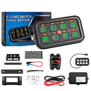 8 Gang Switch Panel On-off Led Car Switch Panel Circuit Control 12v 24v 1200w Us