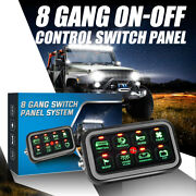 8 Gang Switch Panel On-off Led Car Switch Panel Circuit Control 1200w 12v-24v