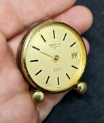 Looping 15 Jewels Vintage Alarm Clock 8 Days Swiss Made.without Glass And Arrows