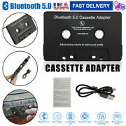 Audio Aux Car Cassette Tape Adapter Converter Bluetooth 5.0 For Iphone Android