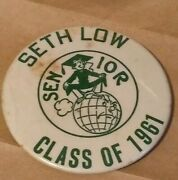 Seth Low High School Brooklyn Ny Pins Buttons Class Of 1961