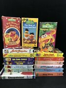 Sesame Street Muppets Vhs Video Collection Pbs Rare Oop Vintage Lot 16 Ctw