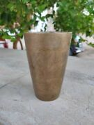 Vintage Original Brass Glass Old Collectible Water Glass Hand Crafted Milk Glass