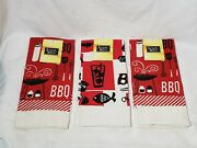 Barbecue Hand Towels Summer Fun Cooking Themed 3 Towels Total Leisure Ways New