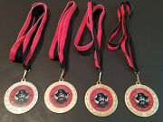 Set Of 4 Pirate Treasure Trot Running Marathon Medals Tokens 1st 2nd Place