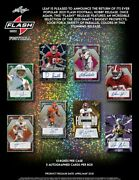 2021 Leaf Flash Football Hobby 12 Box Case Factory Sealed In Hand