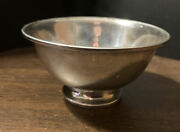 Fb Rogers Silver Co 1883 Sterling Footed 4 1/8andrdquo Bowl 152 3.6 Ozs.