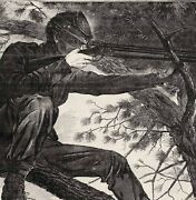 Original Winslow Homer Army Of The Potomac A Sharp Shooter On Picket Duty 1862