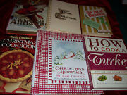 Lot Of 7 Christmas Cookbook/books Hb Susan Branch Betty Crocker Turkey And More
