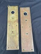 Vintage Brass Entry Door Push And Pull Plate Industrial Architectural