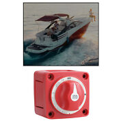 6006 Marine Battery Switch M Series On/off W/knob 300 Amp 4 Position -red
