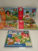 Leap Frog Imagination Desk Interactive Book And Cartridges Tad Reading Math Lot 5