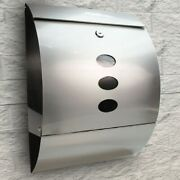 Stainless Steel Mailbox Wall Mount Lockable Durable Newspaper Letter Storage