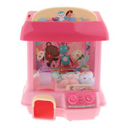 Pink Electronic Mini Candy Doll Grabber Rc Arcade Claw Machine For Kids