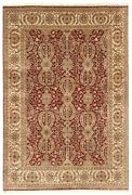 9x12 Hand Knotted Wool Large Area Rug Handmade Oriental Floral Red New Carpet