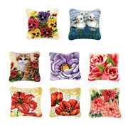 Latch Hook Rug Kits Pillow Case Making For Kids Beginners 43x43cm / 17x17''