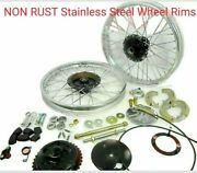 Front Rear Half Width Wheel Rim Stainless Steel 19 For Royal Enfield Bsa Norton