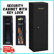 Security Storage Cabinet With Key Lock Steel With Black Powder Coat Finish