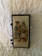Antique German Lithograph Sewing Victorian Pin Keep Card