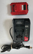 Porter-cable Type 5 20v Lithium Ion Battery Charger + Battery