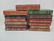 Franklin Library Leather Books Limited Edition Illustrated Lot Of 13 Gold Gilt