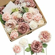 Lingand039s Moment French Dusty Rose Artificial Wedding Flowers Combo For Wedding Bou