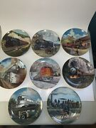 J.b. Deneen Classic American Trains Plate Collection Set Of 8 - A