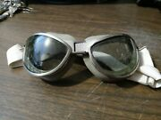Reproduction Ww2 Us Air Corp Type B-7 Flight Goggles Double Cushion Green Lenses