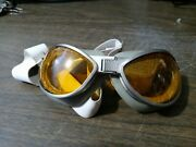 Reproduction Ww2 Us Air Corp Type B-7 Flight Goggles Double Cushion Amber Lenses