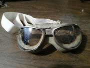 Reproduction Ww2 Us Navy A-n 6530 Flight Goggles Tube Vent Clear Lenses