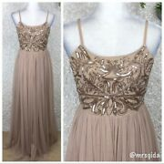Asos Maya Embellished Cami Strap Tulle Maxi Gown Size 6
