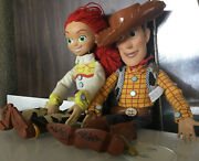 Disney Pixar Toy Story Thinkway Pull String Woody And Jessie Talking Doll 15andrdquo D1