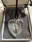 New In Box Waterford Crystal Large Heart Ring Holder